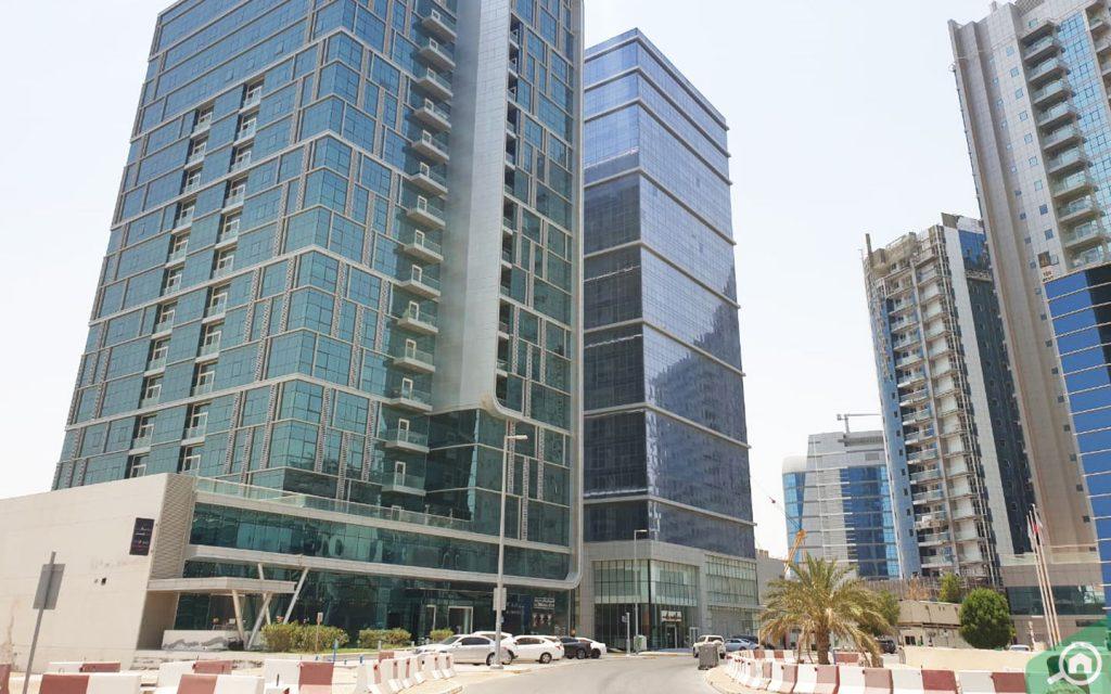 Buildings in Danet area Abu Dhabi
