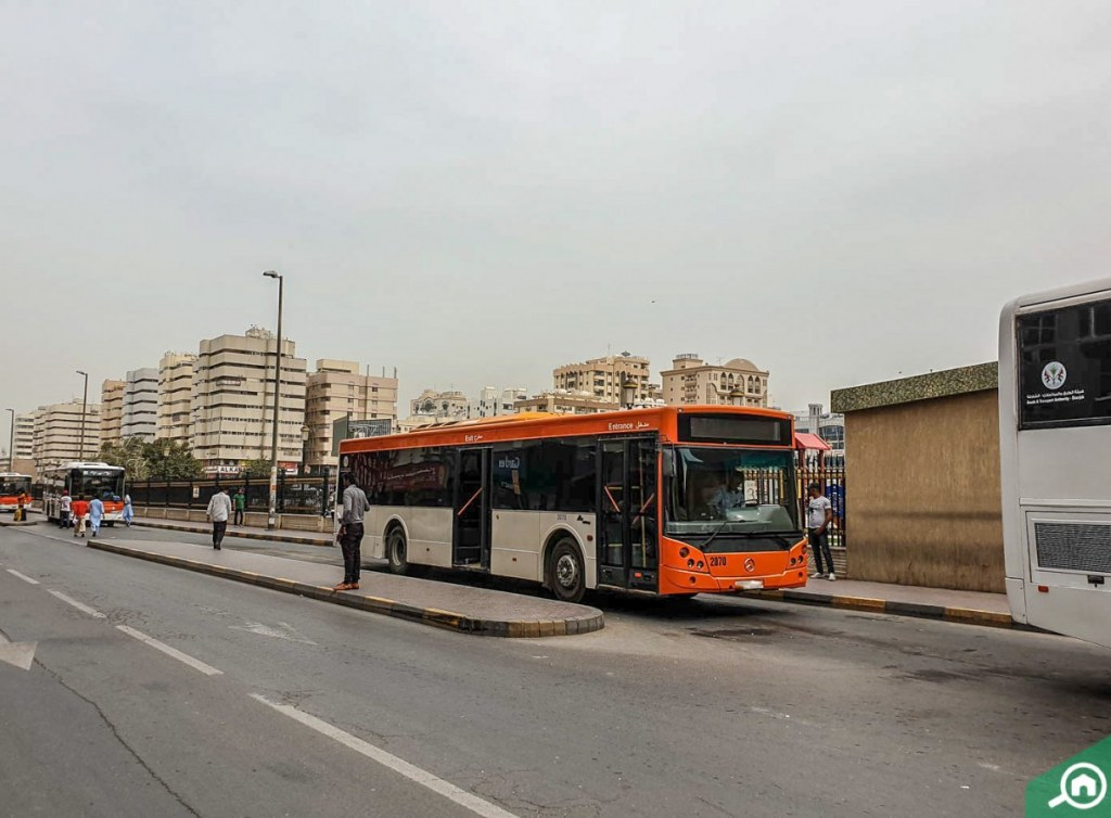 bus stop in Rolla Sharjah