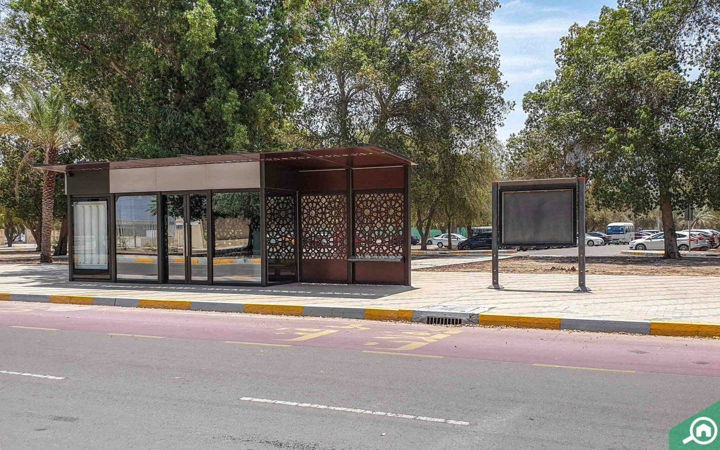 Bus stop in Zayed Sports City