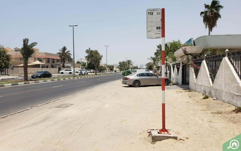 Bus stop in Al Jazzat