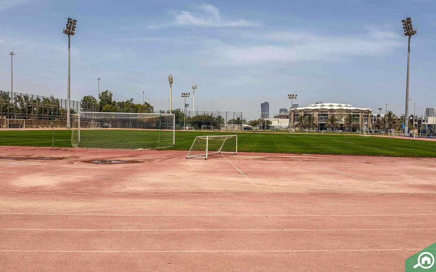 football pitch in Zayed Sports City