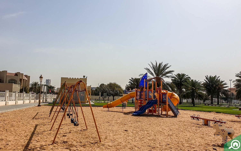 Kids play area in Sharqan