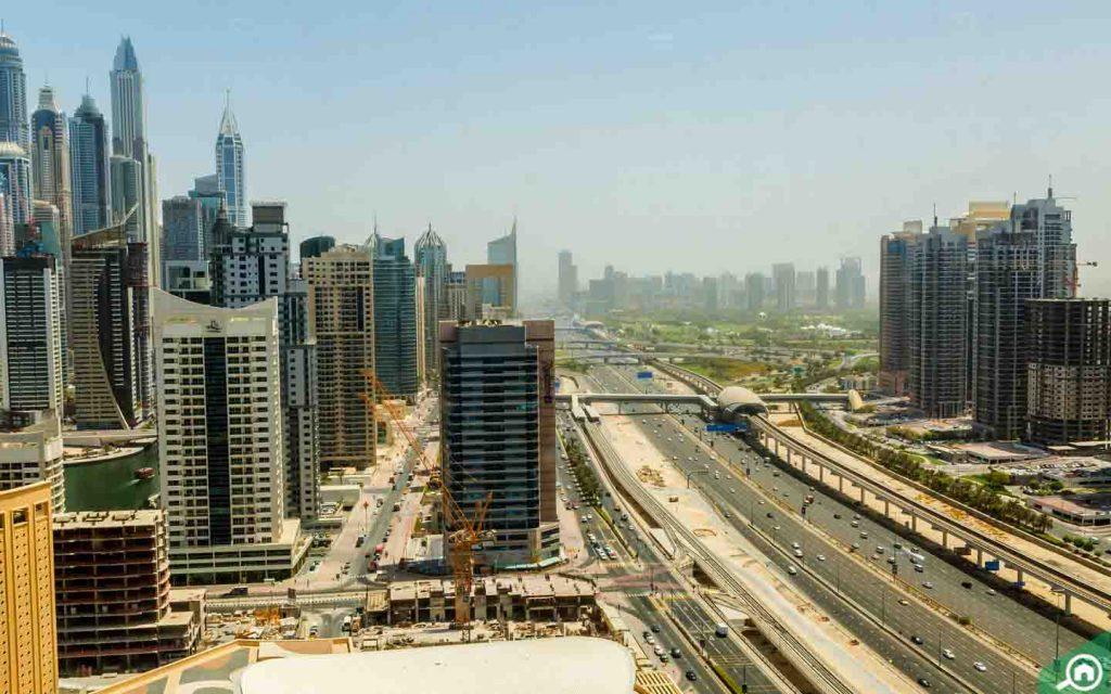 شارع الشيخ زايد من الأعلى