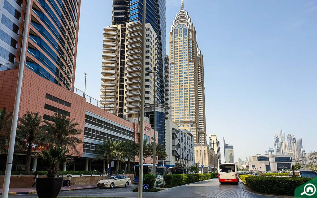 Street view of Dubai Internet City