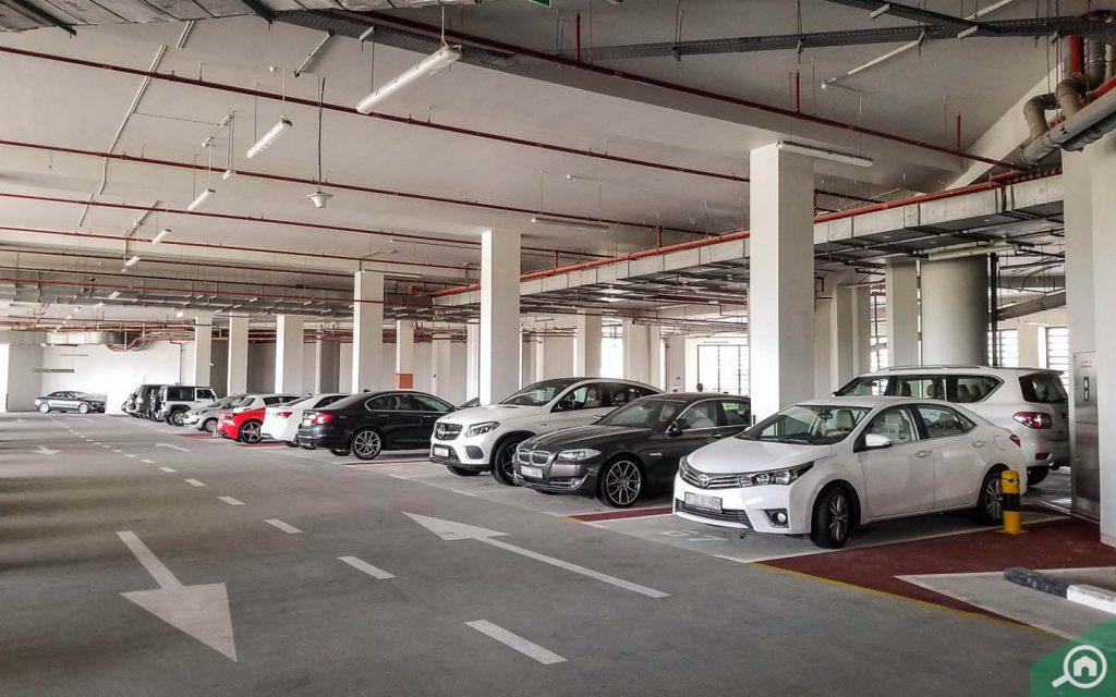 parking in vida residence