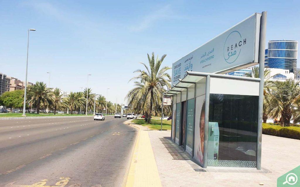bus stop in Al Aman