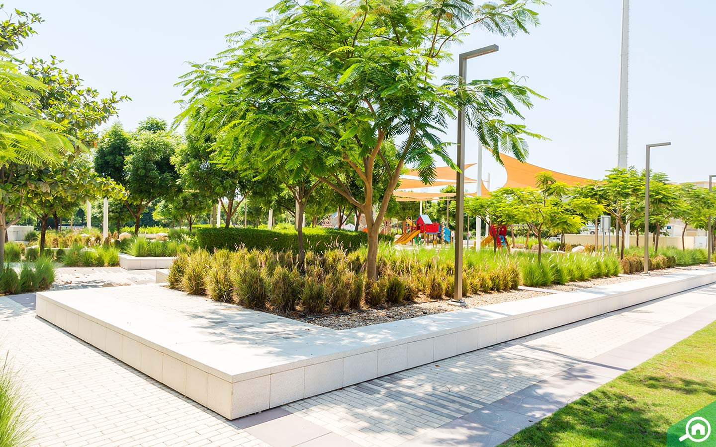 grassy parks in Emirates Hills
