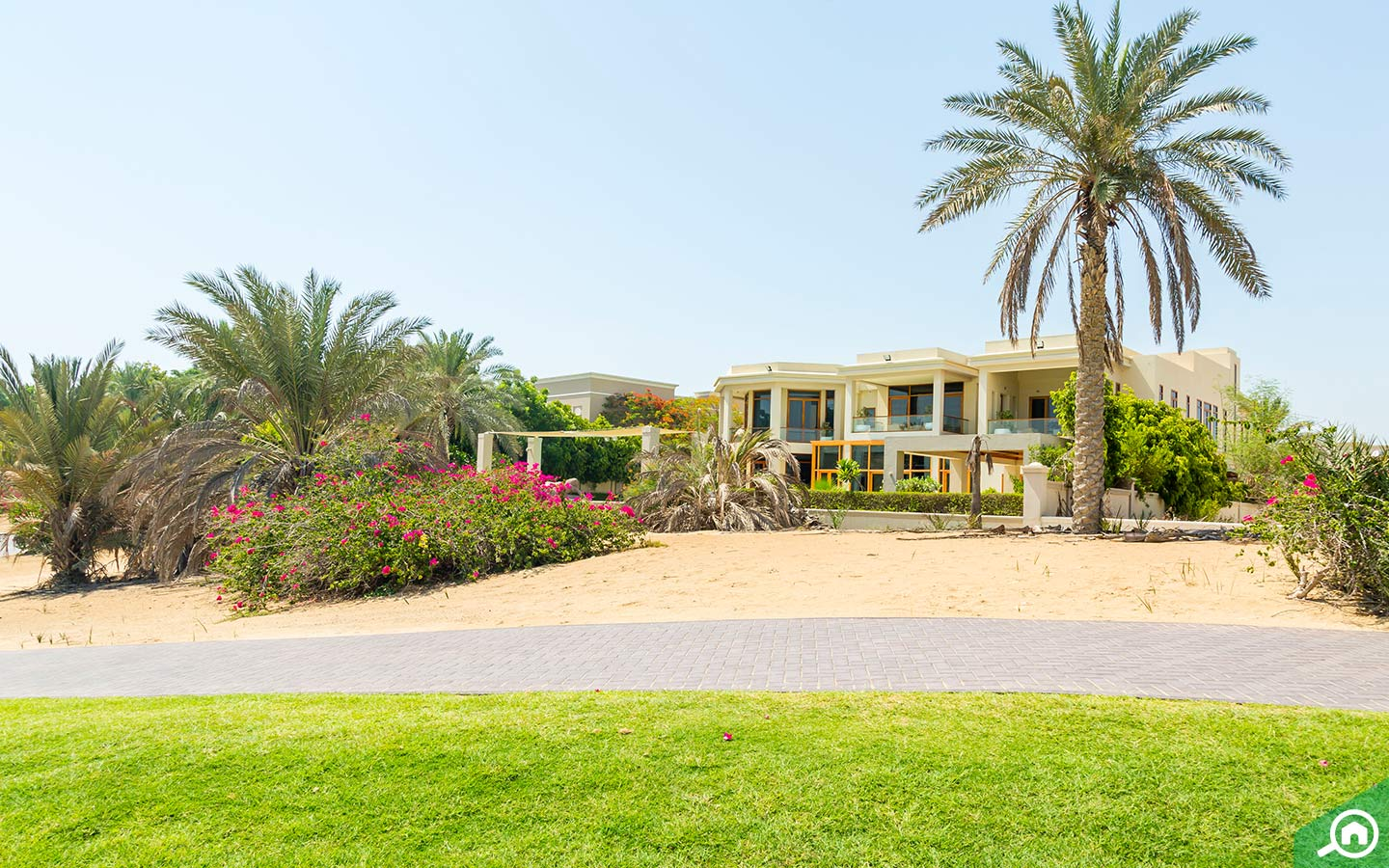 Villa surrounded by greenery in Emirates Hills