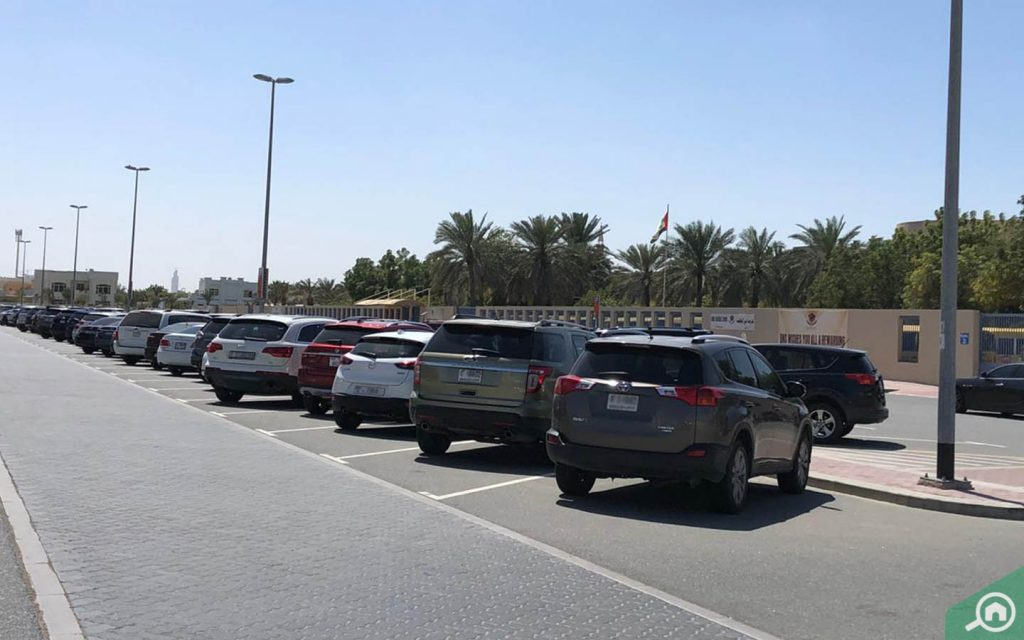street parking in al barsha 1