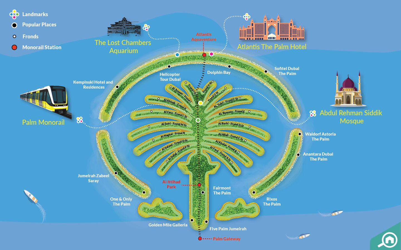 palm jumeirah map