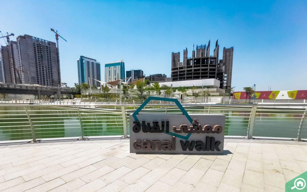 canal walk on Al Reem Island