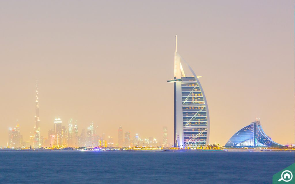 burj al arab views from bluewaters island