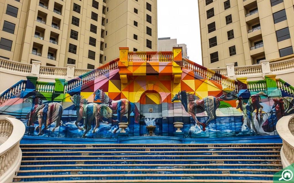 murals at JBR walk