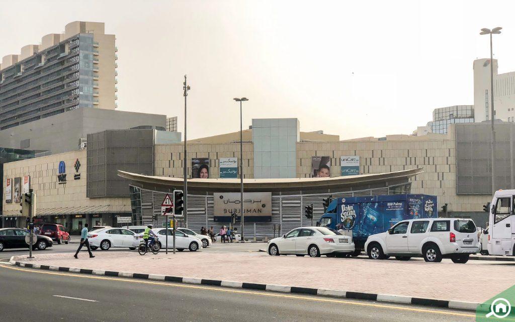 Burjuman Metro Station near Al Mankhool Dubai