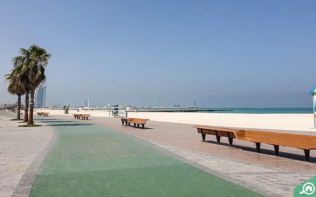 peaceful view of Jumeirah Beach dubai