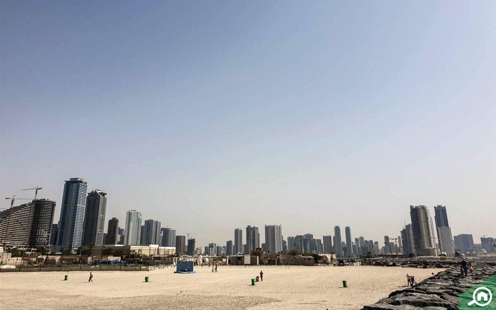 Al Khan beach in Sharjah