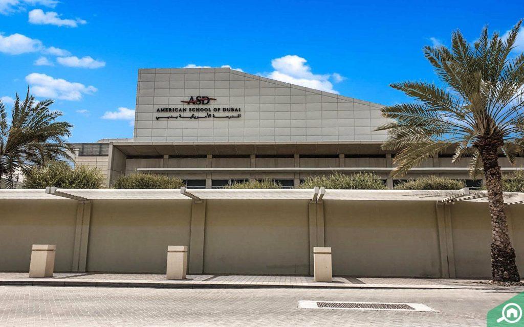 outside view American School of Dubai (ASD)