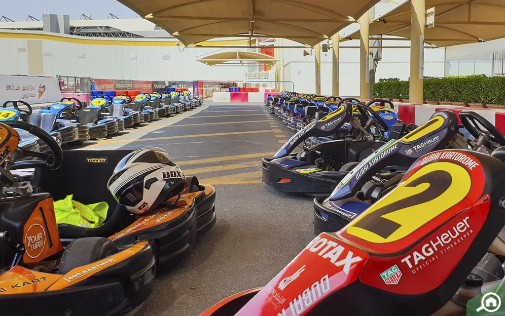 racing cars in Dubai Autodrome