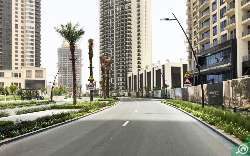street view of dubai creek