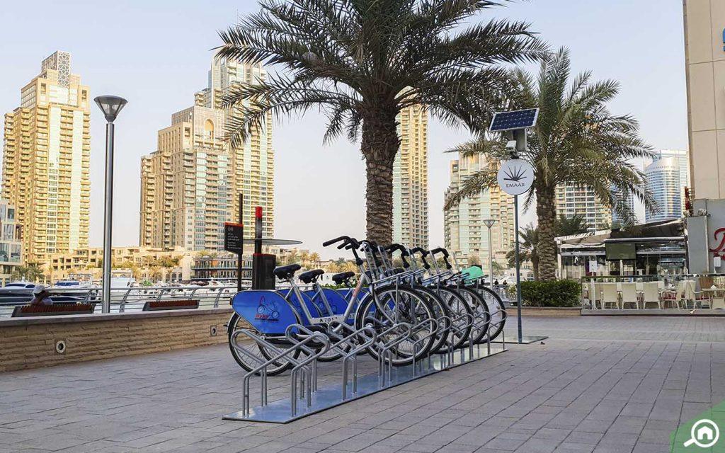 Bikes in Dubai Marina Walk