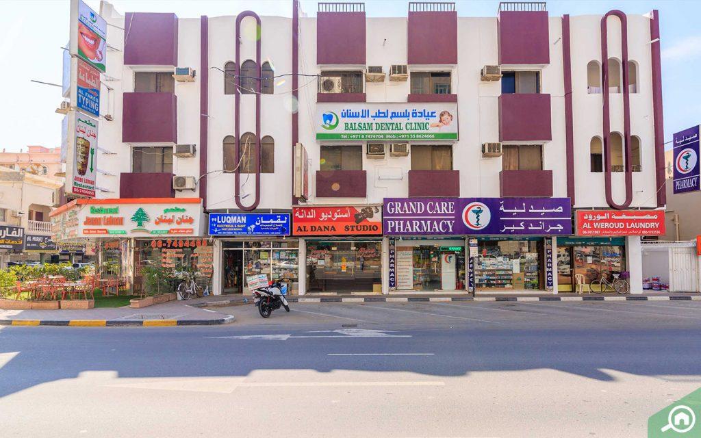 Retail stores in Al Nuaimiya