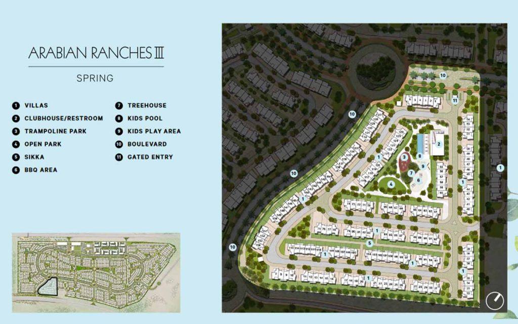 spring, arabian ranches 3 masterplan by emaar properties