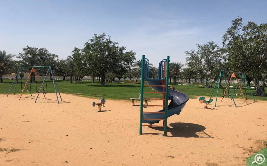 ملعب للأطفال في حديقة الدراري