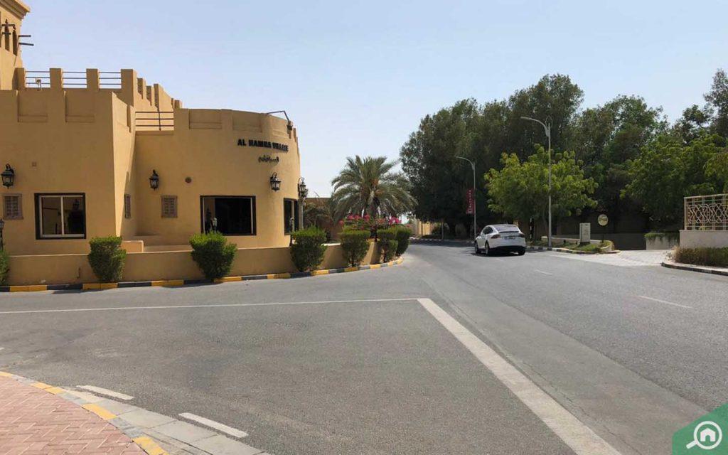 An outside view of Al Hamra Village