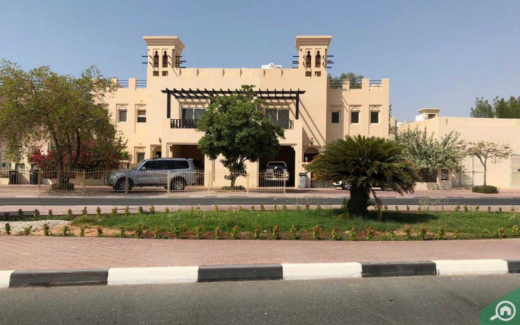 A view of villa in Al Hamra Village
