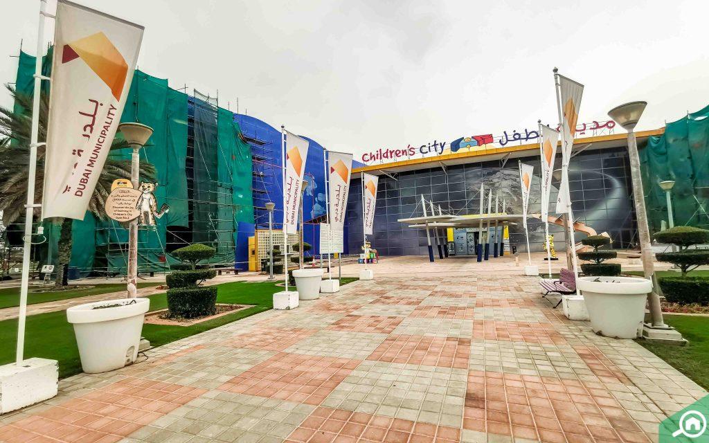 Entrance of Children's City Dubai