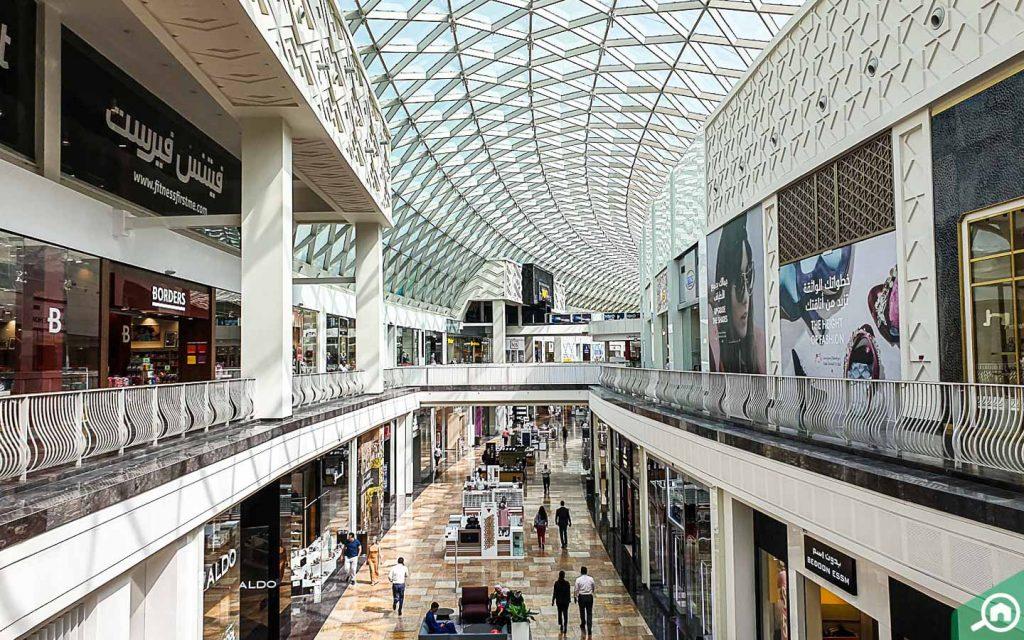 Inside view of Dubai Festival City Mall