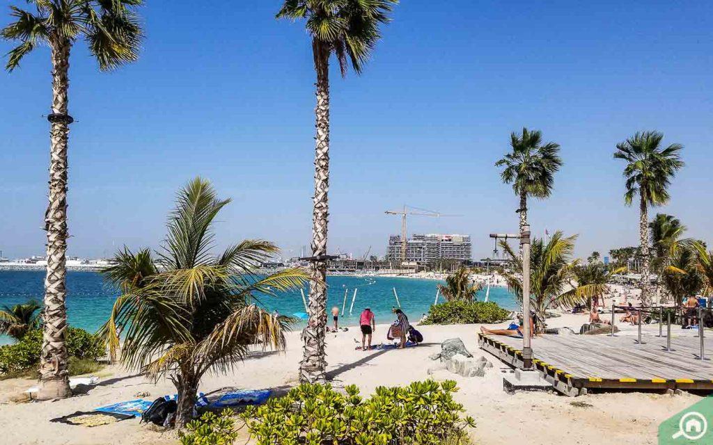 A view of Jumeirah Beach