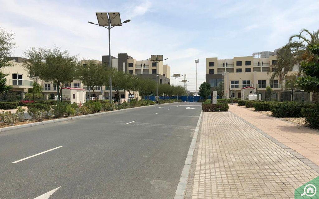شارع فرعي في المنطقة