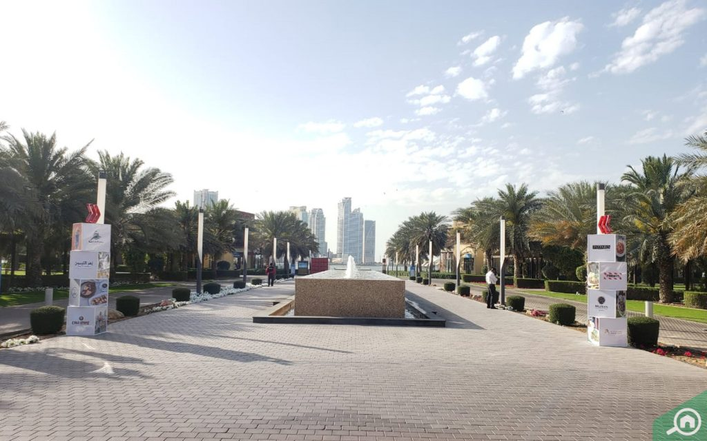 An inside view of Al Majaz Park