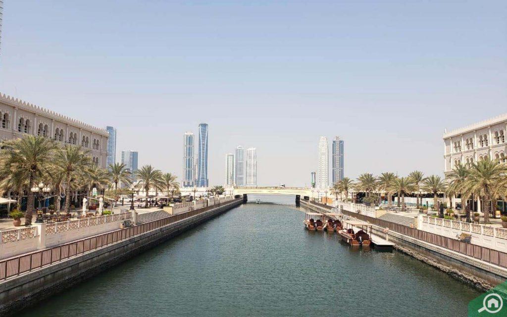 A view of Al Qasba Canal