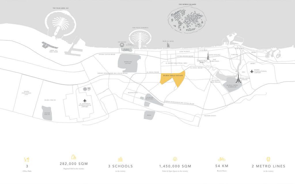 Dubai Hills Estate Location