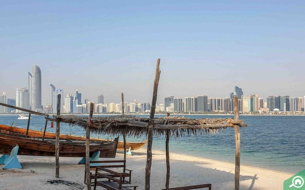 شواطئ في مارينا أبوظبي