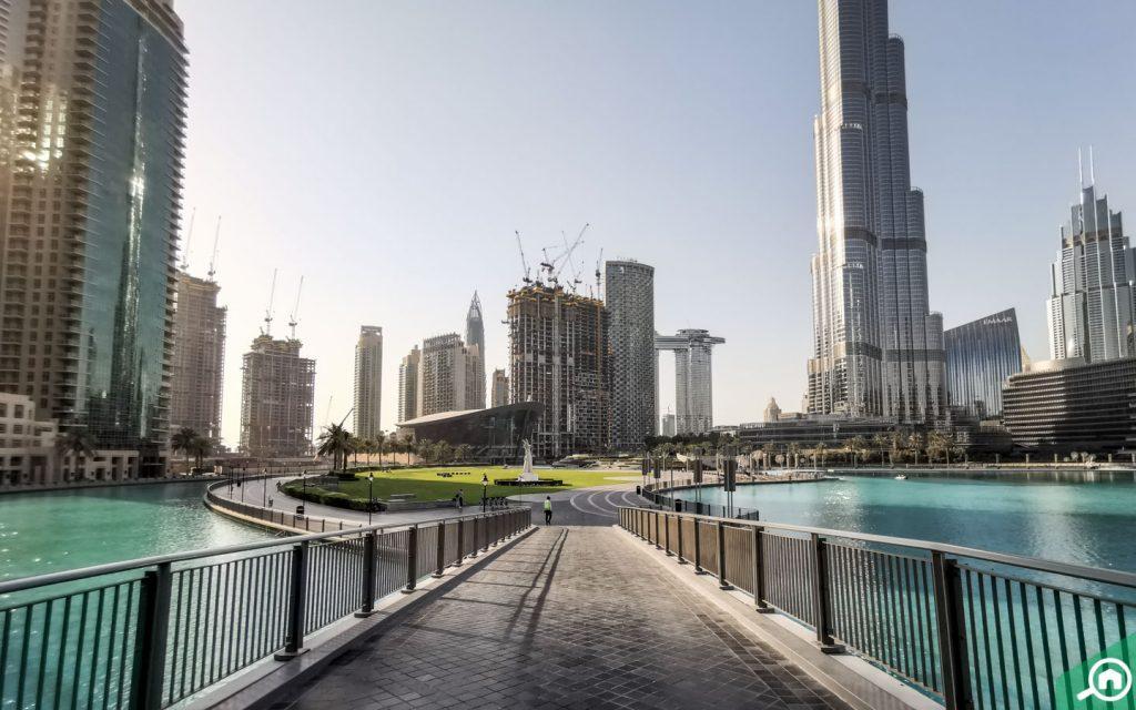 Burj Park near Burj Khalifa