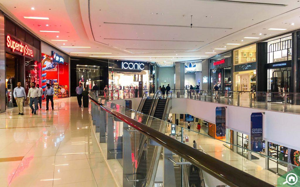 المحلات في دبي مارينا مول