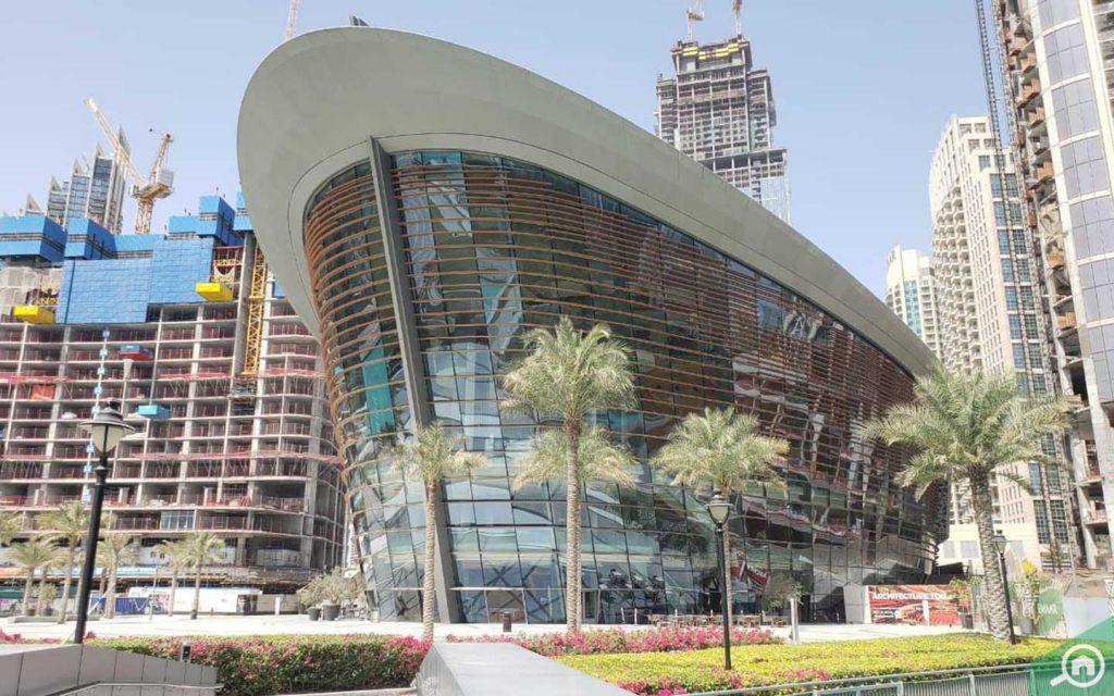 Dubai Opera near Burj Khalifa