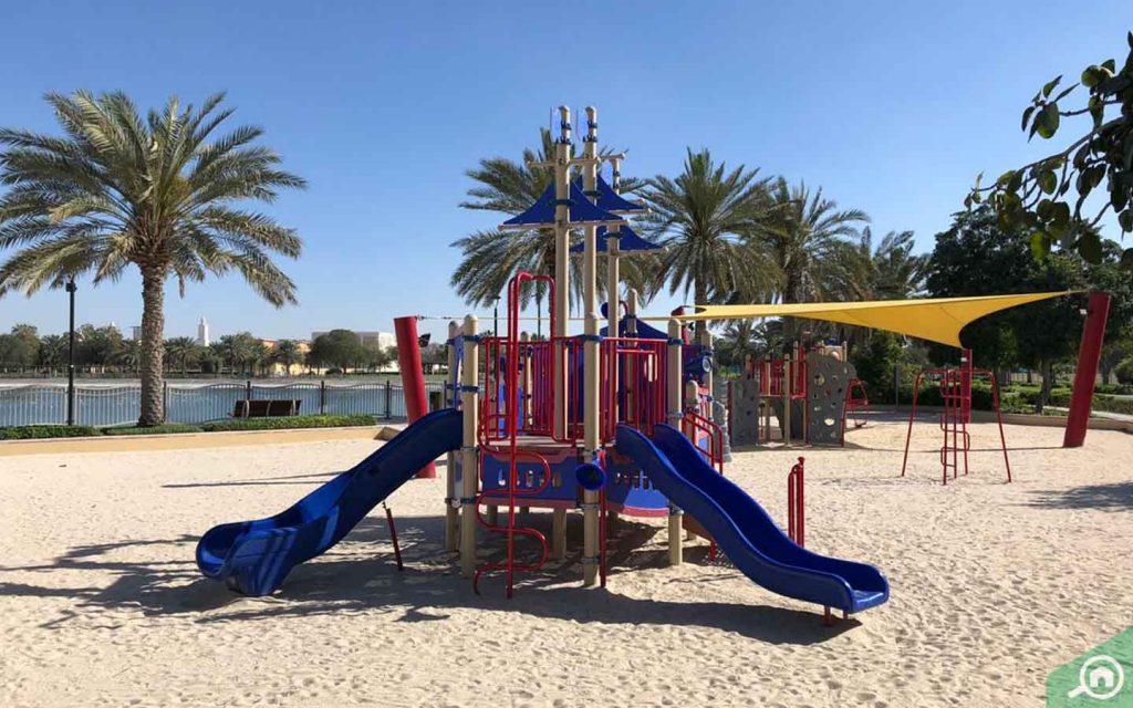 A view of Al Barsha Pond Park