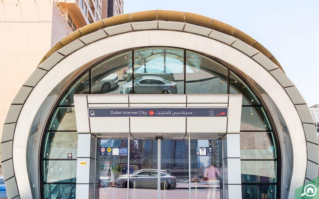 Entrance of Dubai Internet City Metro Station