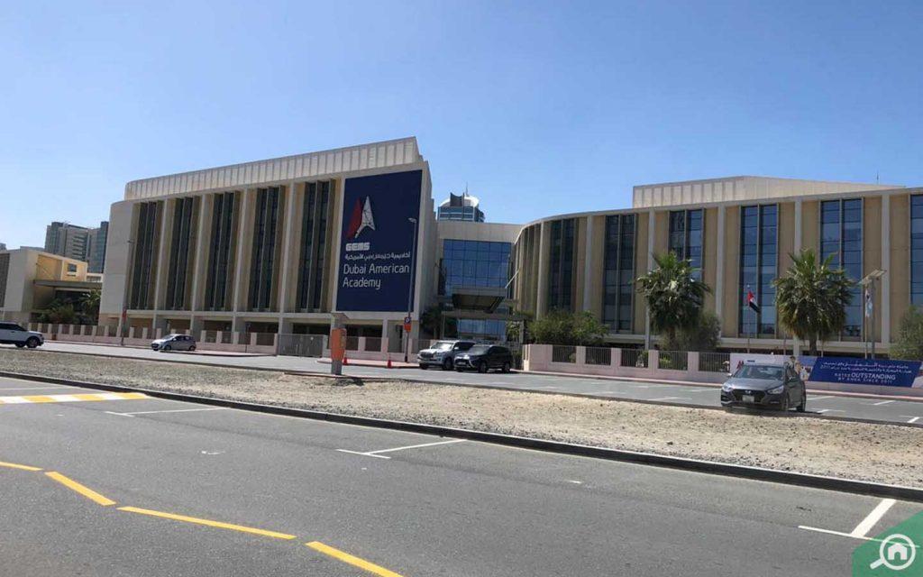 Street view of GEMS Dubai American Academy