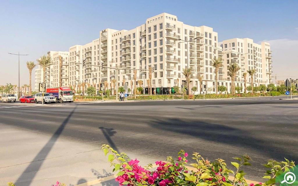 مباني الشقق في تاون سكوير دبي