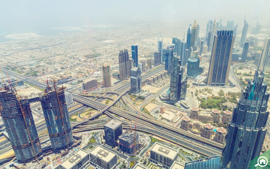 اطلالة من قمة برج خليفة