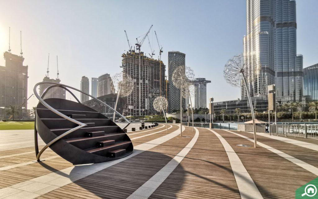 burj park in downtown dubai