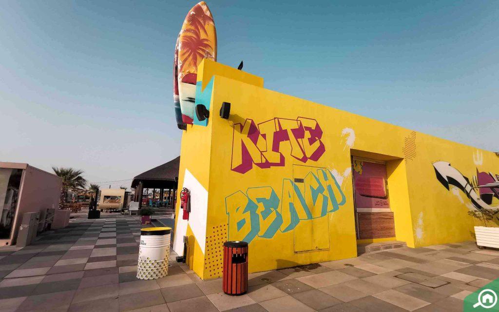 Kite Surfing at Kite Beach Dubai