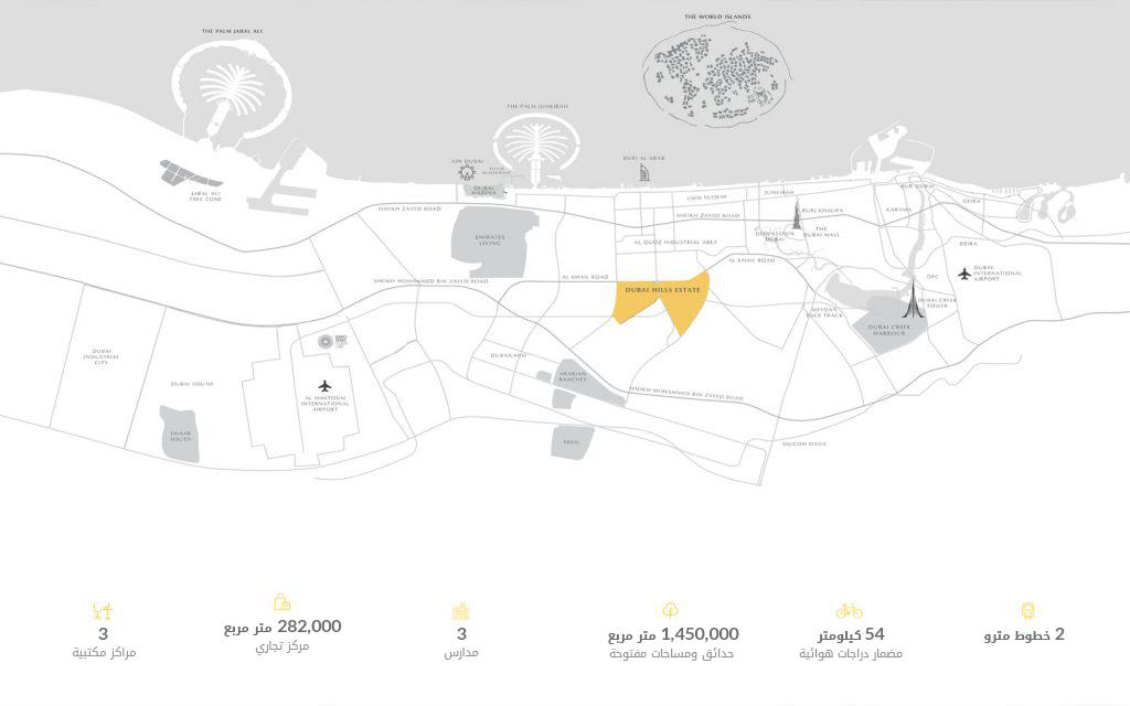 خريطة للأماكن القريبة