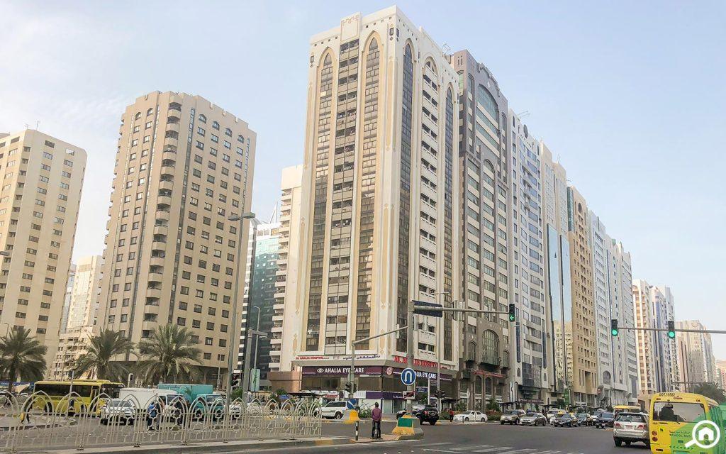 المباني السكنية في شارع حمدان