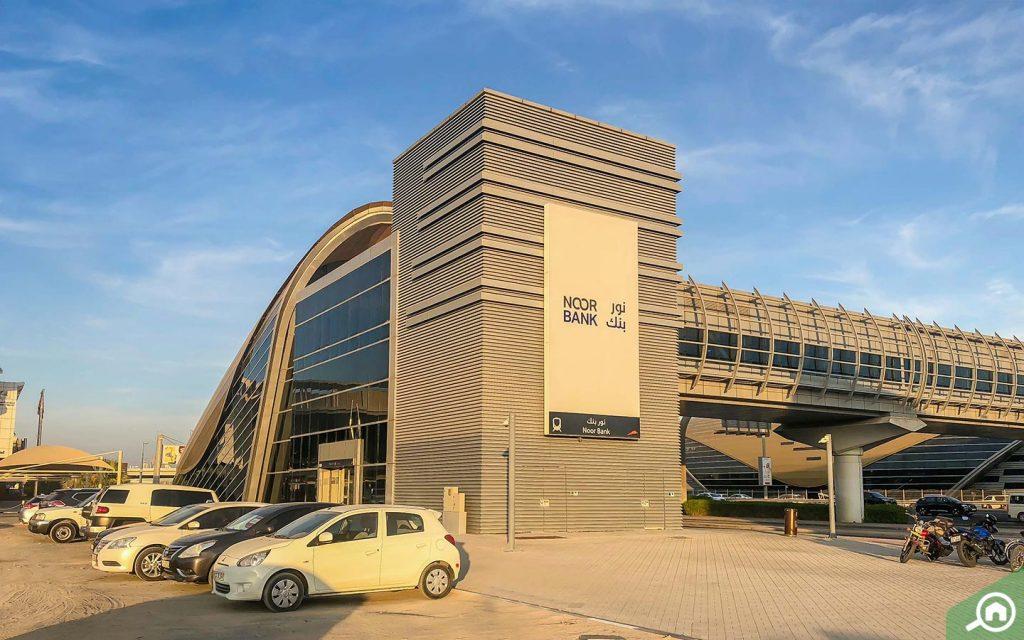 Entrance of Noor Bank Metro Station